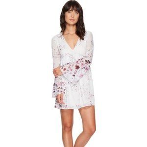 The Jetset Diaries Floral Mini Dress Bell Sleeves